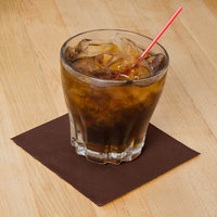 Hoffmaster 180354 Chocolate Brown Beverage / Cocktail Napkin - 1000/Case