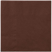 Hoffmaster 180354 Chocolate Brown Beverage / Cocktail Napkin - 1000/Case