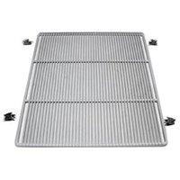 True 914584 White Coated Wire Half Shelf - 22 15/16 inch x 7 11/16 inch
