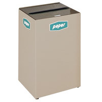 Rubbermaid FGNC24L Collect-A-Cube 22.5 Gallon Beige Recycling Receptacle with Lock