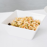American Metalcraft MELSQ94 Endurance 125 oz. Square Melamine Serving Bowl