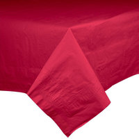Hoffmaster 220411 54 inch x 54 inch Cellutex Red Tissue / Poly Paper Table Cover - 50/Case