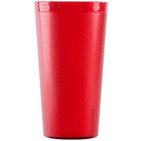 Cambro 3200P2156 Colorware 32 oz. Ruby Red Customizable Plastic Tumbler   - 24/Case