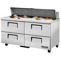 True TSSU-60-16D-4-HC 60 inch 4 Drawer Refrigerated Sandwich Prep Table