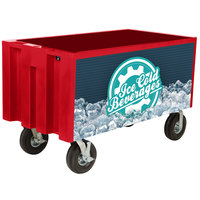 IRP Red Extra Large Super Arctic 3501548 Mobile 456 Qt. Cooler with Wheels