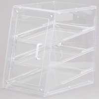 Cal-Mil 963-S Classic U-Build Three Tier Acrylic Display Case with Front and Rear Doors - 11 1/2 inch x 17 inch x 17 inch
