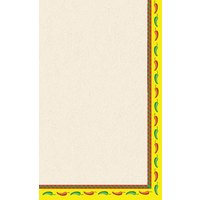 8 1/2 inch x 11 inch Menu Paper - Southwest Themed Mariachi Design Right Insert - 100 / Pack