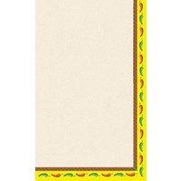 8 1/2 inch x 11 inch Menu Paper - Southwest Themed Mariachi Design Right Insert - 100/Pack