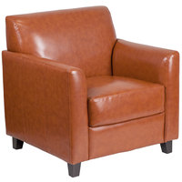 Flash Furniture BT-827-1-CG-GG Hercules Diplomat Cognac Leather Chair with Wooden Feet