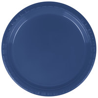 "Creative Converting 28113711 7"" Navy Blue Plastic Plate - 240/Case"