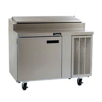 Delfield 18648PTL 48 inch One Door Refrigerated Pizza Prep Table with LiquiTec Raised Rail