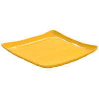 GET ML-147-TY New Yorker 13 3/4 inch Square Catering Platter - Tropical Yellow