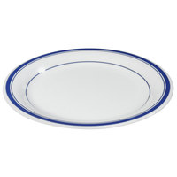 Carlisle 43003912 Mosaic Durus 10 1/2 inch London on White Narrow Rim Melamine Plate - 12/Case