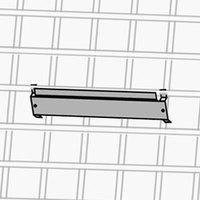 Metro DD3722A Single Bin Holder 3 inch x 1/2 inch