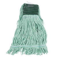 Continental Wilen A02802 J.W. Atomic Loop™ 24 oz. Medium Green Blend Loop End Mop Head with 5 inch Band