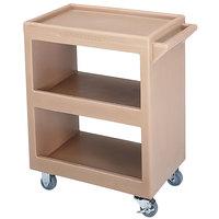 Cambro BC225157 Coffee Beige Three Shelf Service Cart - 28 inch x 16 inch x 32 1/4 inch