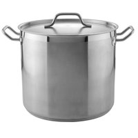 20 Qt. Heavy-Duty Stainless Steel Stock Pot with Cover