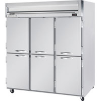 Beverage-Air HFS3-5HS Horizon Series 78 inch Solid Half Door Reach-In Freezer with Stainless Steel Interior