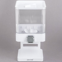 Zevro KCH-06129 Compact White Dry Food Dispenser