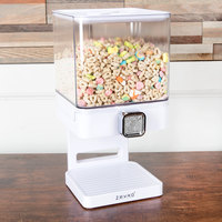 Zevro KCH-06129 Compact White 4 Liter Single Canister Dry Food Dispenser