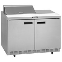 Delfield UC4460N-12M 60 inch 2 Door Mega Top Reduced Height Refrigerated Sandwich Prep Table