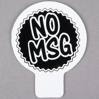 Deli Tag Topper - NO MSG - Black