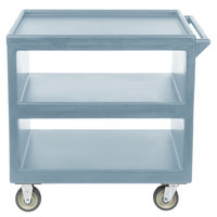 Cambro BC235 Slate Blue Three Shelf Service Cart - 37 1/4 inch x 21 1/2 inch x 34 5/4 inch
