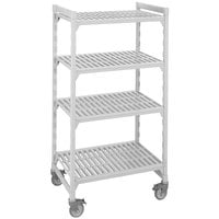 Cambro CPMU213667V4480 Camshelving Premium Mobile Shelving Unit with Premium Locking Casters 21 inch x 36 inch x 67 inch - 4 Shelf