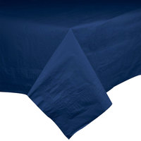 Hoffmaster 220422 54 inch x 54 inch Cellutex Navy Blue Tissue / Poly Paper Table Cover - 50/Case