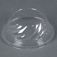 Clear Dome PET Lid for 5 oz., 8 oz., and 12 oz. Sundae Cups - No Hole - 84/Pack