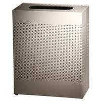 Rubbermaid SR18EPL Silhouettes Steel Designer Rectangular Waste Receptacle - 40 Gallon (FGSR18EPLDP)