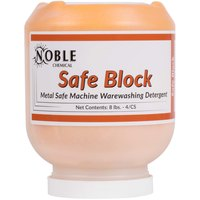 8 lb. Noble Chemical Safe Block Metal Safe Machine Warewashing Detergent - Ecolab® 10751 Alternative - 4/Case