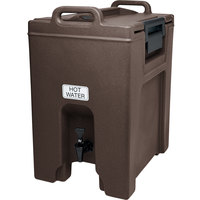 Cambro UC1000131 Ultra Camtainers® 10.5 Gallon Dark Brown Insulated Beverage Dispenser