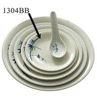 Blue Bamboo Melamine Dinner Plate – 4 3/4 inch 12 / Pack