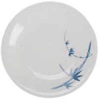 Thunder Group 1304BB Blue Bamboo 4 3/4 inch Round Melamine Plate - 12/Pack