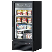 Turbo Air TGF-10SD Black 26 inch Super Deluxe Glass Door Merchandising Freezer