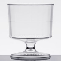WNA Comet CCW2240 Classicware 2 oz. 1-Piece Clear Plastic Pedestal Wine Cup   - 240/Case