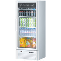 Turbo Air TGM-12SD Super Deluxe Series 26 inch White Single Glass Door Refrigerated Merchandiser