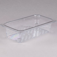 Cambro 33CLRCW135 Camwear 1/3 Size Clear Polycarbonate Colander Pan - 3 inch Deep
