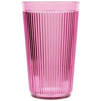 Carlisle 401255 Crystalon Stack-All 12.3 oz. Rose SAN Plastic Tumbler - 12/Case