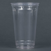 Fabri-Kal Greenware GC24 24 oz. Customizable Compostable Clear Plastic Cold Cup - 25 / Pack