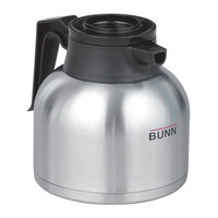 Bunn 51746.0101 Zojirushi 64 oz. Stainless Steel Economy Thermal Carafe - Black Top