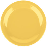 Carlisle 4350322 Dallas Ware 7 1/4 inch Honey Yellow Melamine Plate - 48/Case