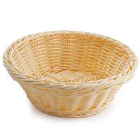 GET WB-1501-N 9 1/2 inch x 3 1/2 inch Designer Polyweave Natural Round Basket - 12 / Case