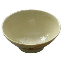 Thunder Group 5770 Gold Orchid 24 oz. Round Melamine Soup Bowl - 12/Case