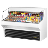 True THAC-60 60 inch White Refrigerated Horizontal Air Curtain Merchandiser - 14.8 Cu. Ft.