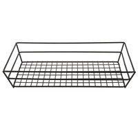 American Metalcraft GCRB2613 Black Grid Rectangular Basket - 13 inch x 6 inch x 2 1/2 inch