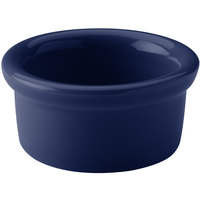 Hall China 30362105 Cobalt Blue 2.5 oz. Colorations Round China Ramekin - 36/Case