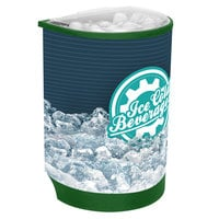 IRP Green Iceberg 500 60 Qt. Insulated Portable Beverage Cooler / Merchandiser with Lid, Drain, and Semicircular Design
