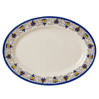 GET OP-618-SL Santa Lucia 18 inch x 13 1/2 inch Oval Platter - 12/Pack